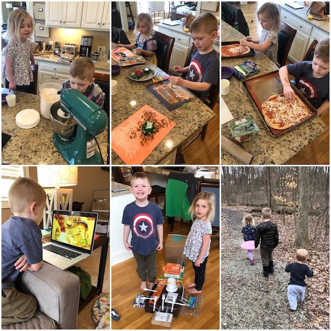 pre-k day at home