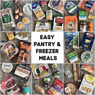 Easy Pantry and Freezer Meals