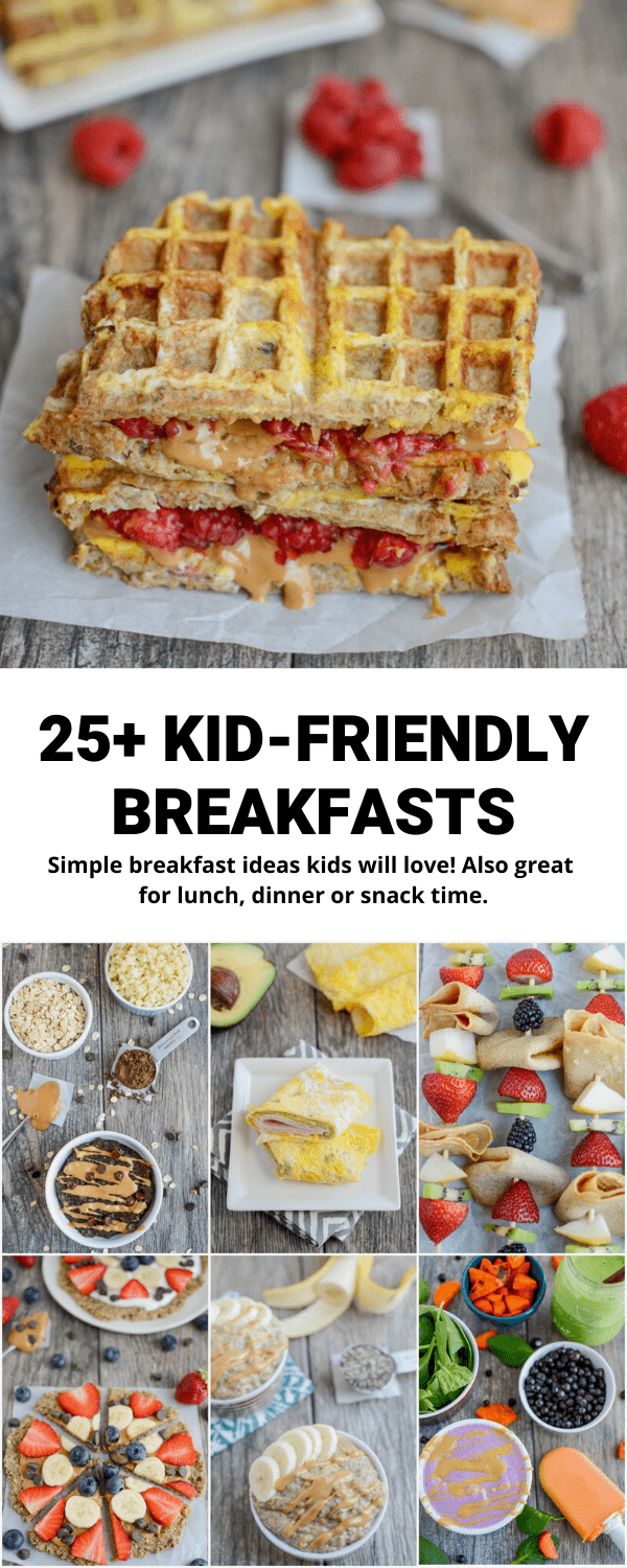These Breakfast Ideas for Kids are simple to make on a busy morning and sure to be a hit with kids of all ages. Use them if you're stuck in a breakfast rut or serve them as lunch, dinner or a snack!
