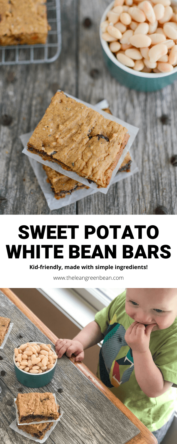 These Sweet Potato White Bean Bars are perfect for breakfast or snack time. They're kid-friendly, nut-free and full of fiber!