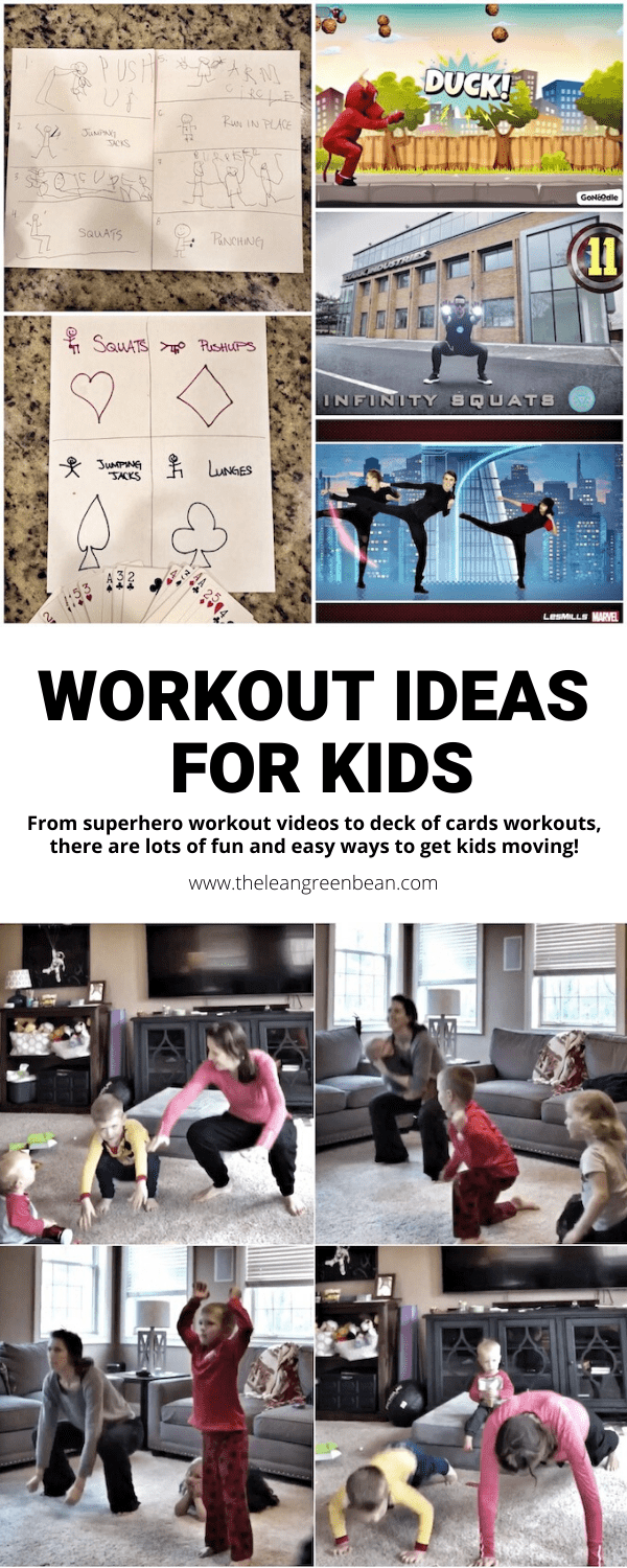 Looking for workout ideas for kids? There are lots of great options on YouTube, plus you can easily create your own Tabata or deck of cards workout to get kids up and moving!