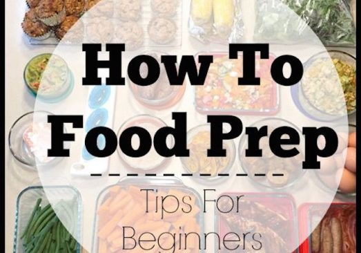 How To Food Prep - 5 Tips for Beginners